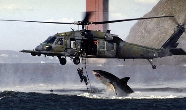 Shark vs Helicopter