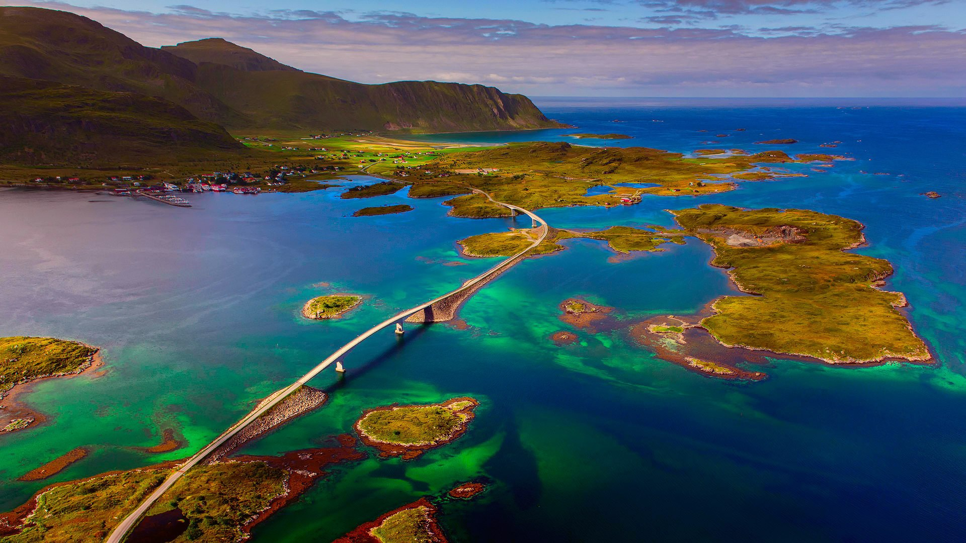Bridge in lofoten islands