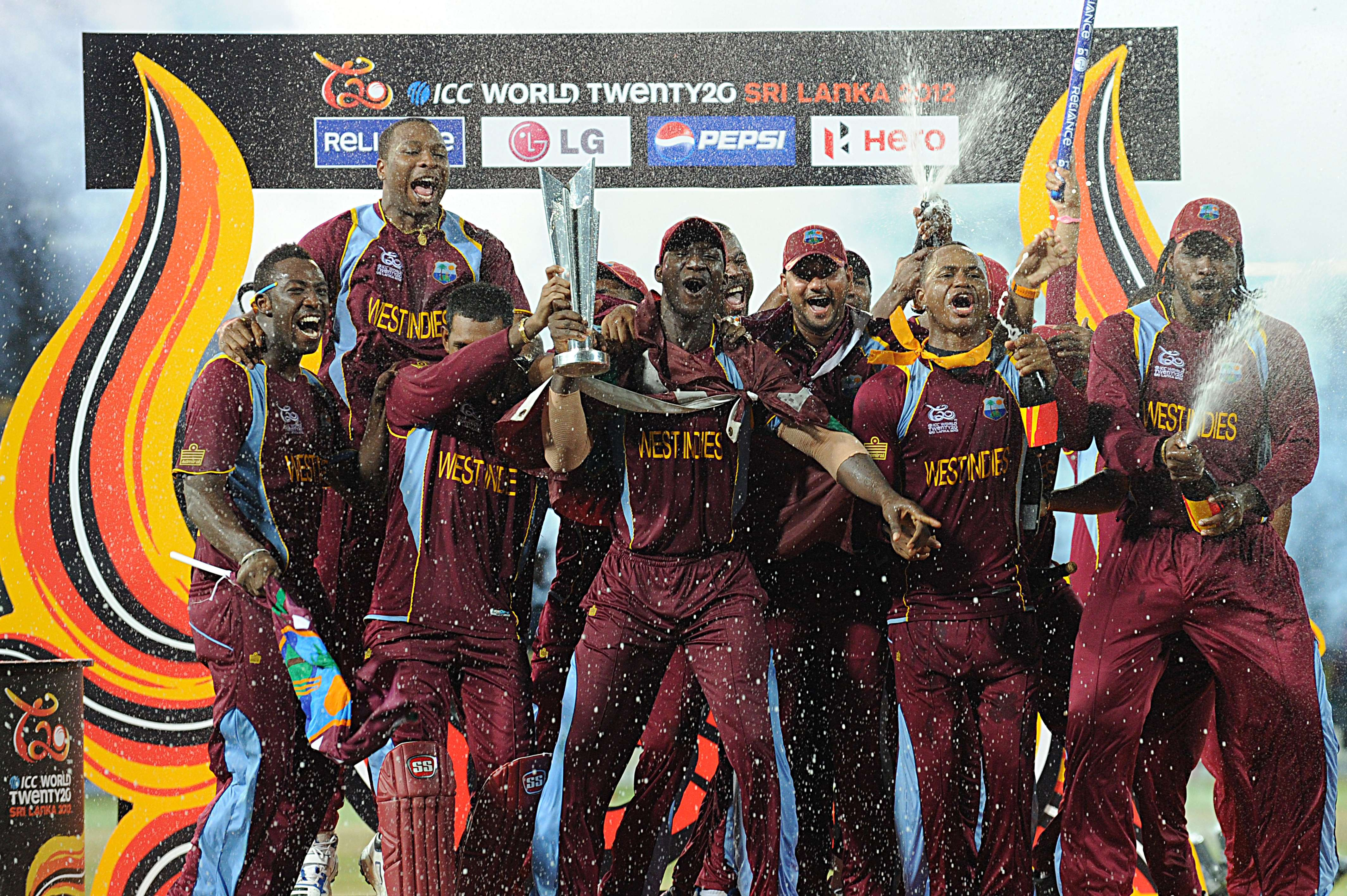 West Indies team celebrating After Winning World Cup