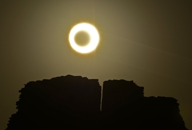 Chaco Culture National Historical Park in Nageezi, Arizona Solar Eclipse