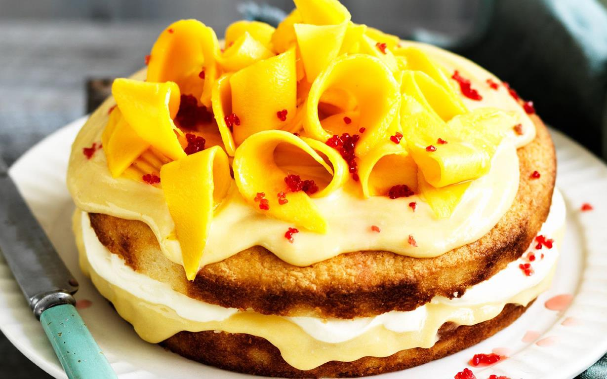 Images For Mango Cake : Frozen Mango-Cream Cakes Recipe   Dishmaps