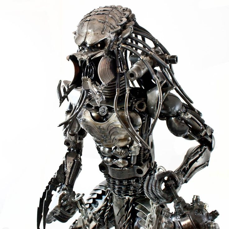 Metal Alien Sculpture