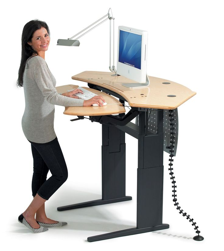 Motorized Stand Sit Computer Desk
